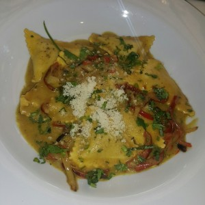 raviolis de pollo con curry