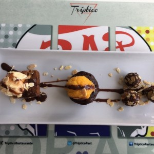 Tríptico de chocolate