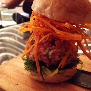 Slider tuna tartar