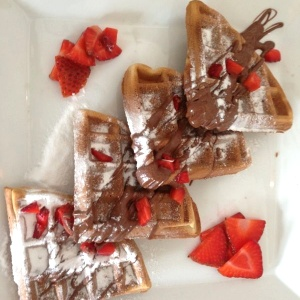 Wafles de Nutella
